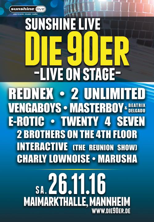 DIE 90er LIVE ON STAGE 2016 Mannheim